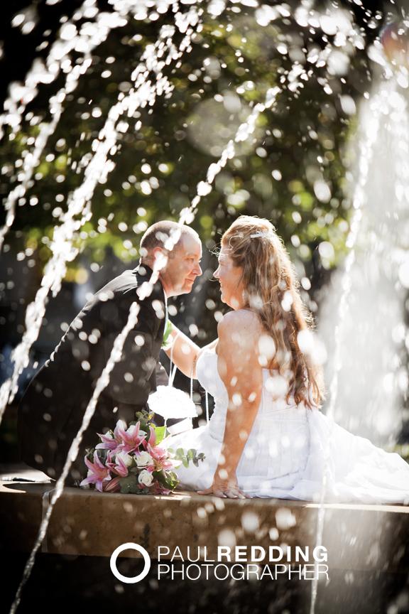 Wedding photography Hobart CBD Tasmania. St Davids Park