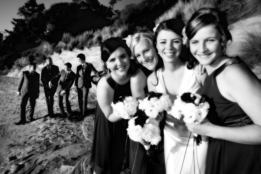 Dodges Ferry Wedding photography. Wedding photography Dodges Ferry, Tasmania - Bridal party portraits