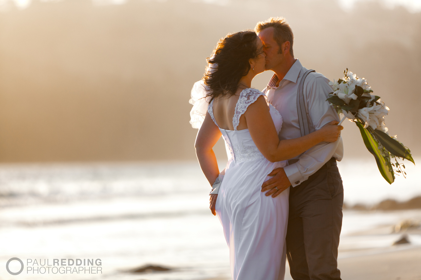 Wedding photography at Roaring Beach- Dover Tasmania - by Huon Valley and Hobart Tasmania wedding photographer, Paul Redding