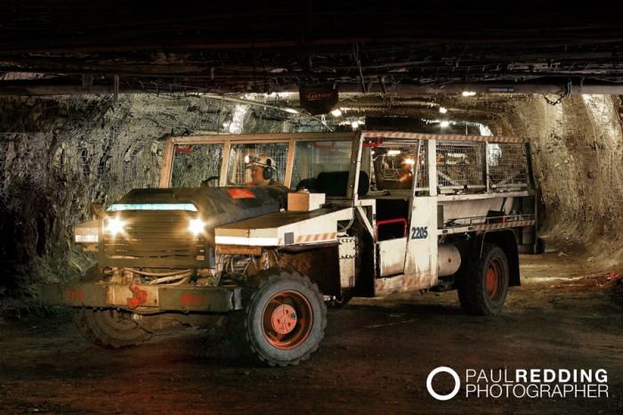 Underground coal mining photography