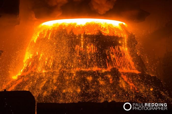 Steel mill photography - Basic Oxygen Smelter