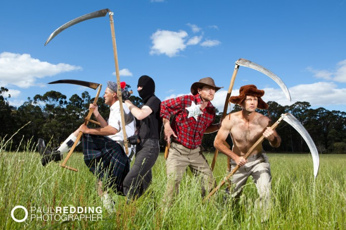 Southern Scythe Squad by Paul Redding agriculture photographer Tasmania