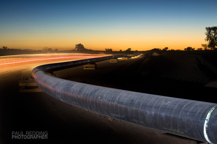 Epic Energy QSN3 by Paul Redding Gas Pipeline photographer Tasmania