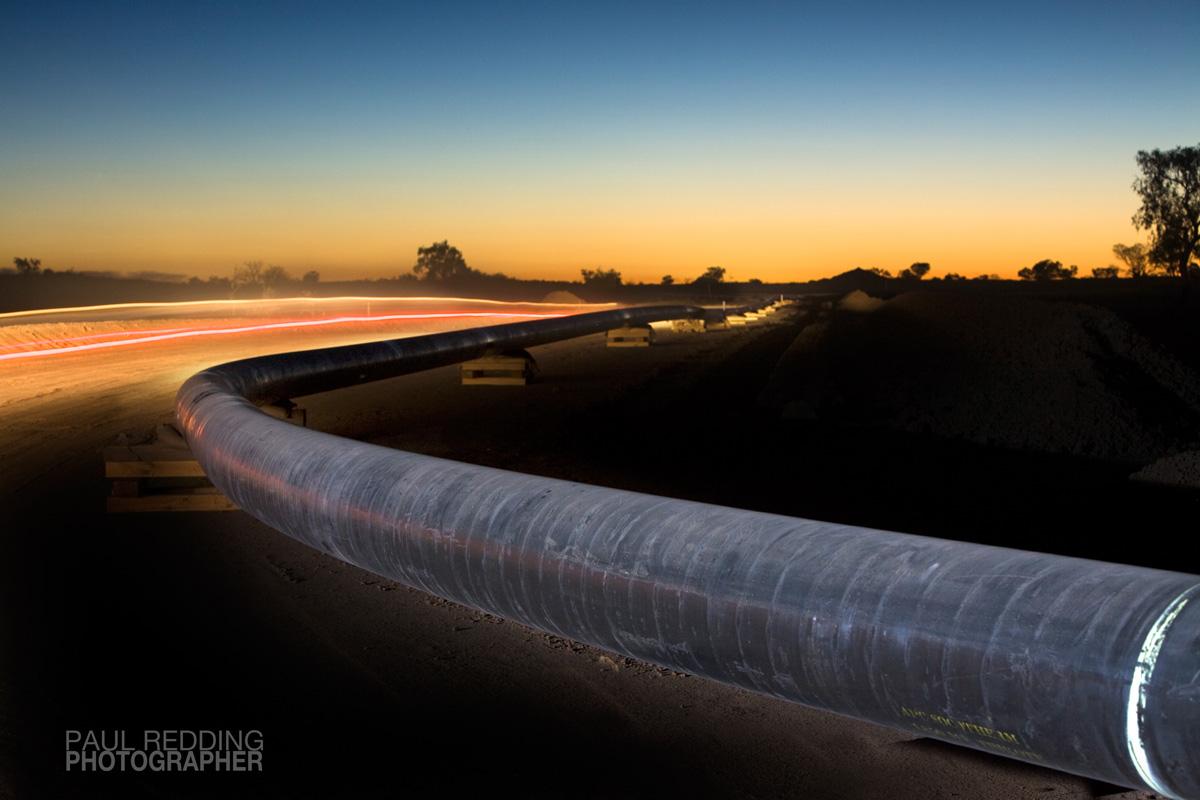 Epic Energy QSN3 by Paul Redding Gas Pipeline photographer Tasmania