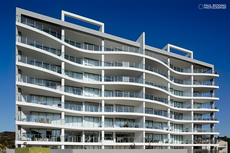 Apartment block  photography by Paul Redding Architecture photographer Tasmania