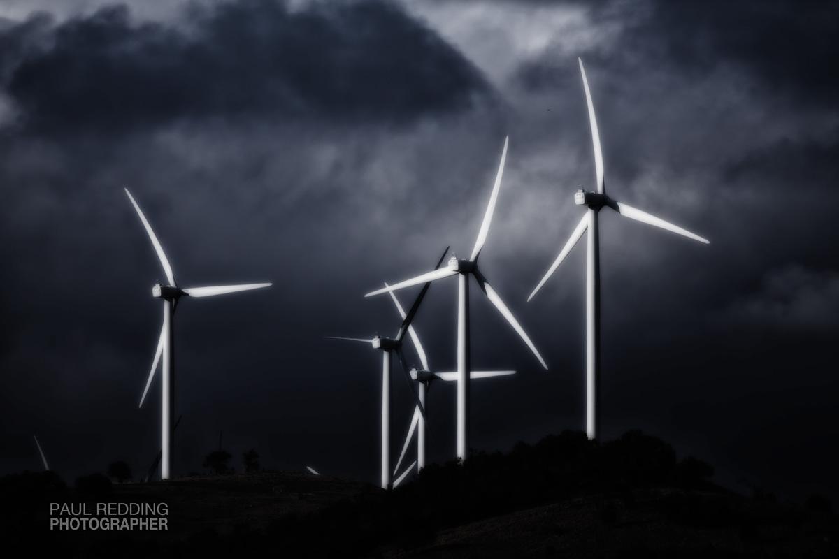 wind farm by Paul Redding commercial photographer Hobart Tasmania