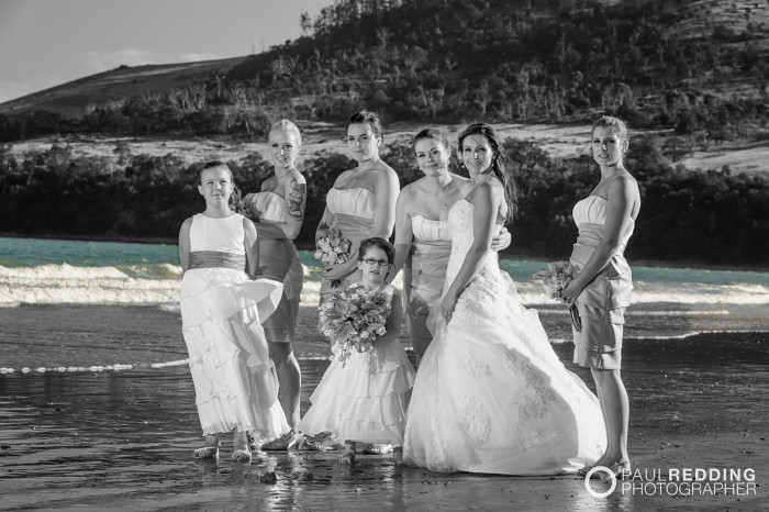 Beach wedding photography Hobart Tasmania by Paul Redding, beach wedding photographer Hobart - 1-2-2014 Seven Mile Beach