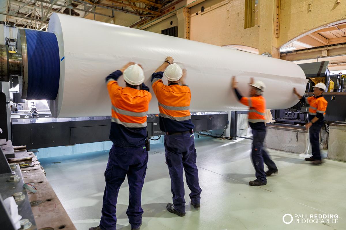 Norske Skog Paper Mill Boyer PM2 Conversion - Paul Redding , Paper Mill Photographer Tasmania