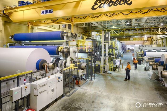 Norske Skog Paper Mill Boyer PM2 Conversion - Paul Redding , Paper Mill Photographer Tasmania