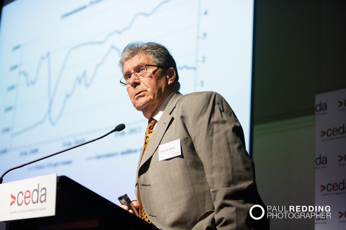 Graeme Wells, Principal, Wells Economic Analysis and, University Associate, University of Tasmania. CEDA- Economic and Political Overview 2014. Paul Redding - Hobart Conference Photographer  12