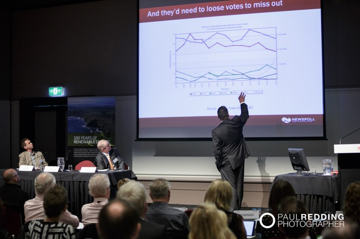 Martin O'Shannessy - CEDA- Economic and Political Overview 2014. Paul Redding - Hobart Conference Photographer