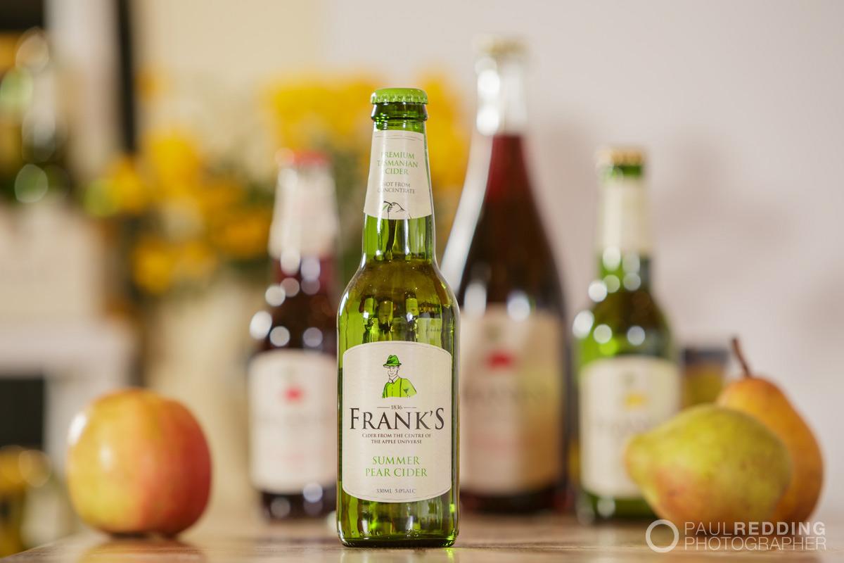 Frank's Cider by  Paul Redding Cider bottle photographer Hobart