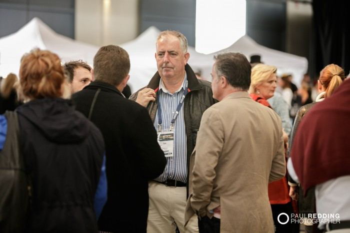 37- Networking at Insurance Advisernet Australia Conference 2015 - Trade Show at Princes Wharf No 1 Shed. Photography by Paul Redding, Hobart Trade Show Photographer.