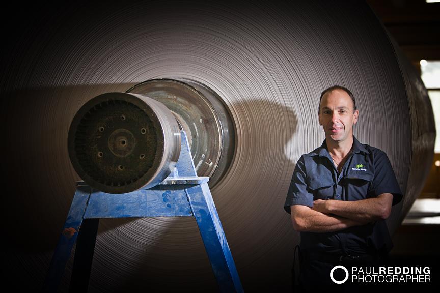 Industrial workers portrait - Norske Skog, Boyer TAS