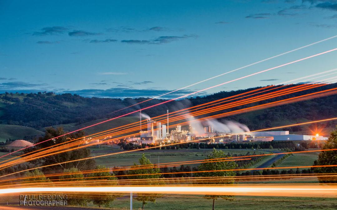 Visy Paper Mill Tumut – Industrial photography by Paper mill photographer Paul Redding
