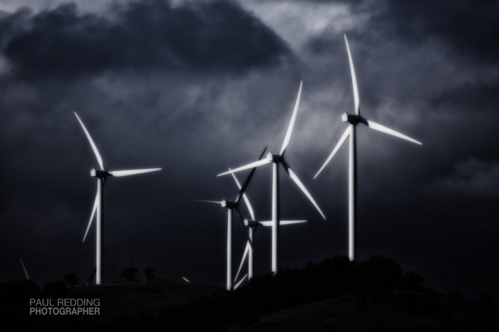 wind farm by Paul Redding commercial photographer Hobart Tasmania - Hobart industrial photographer