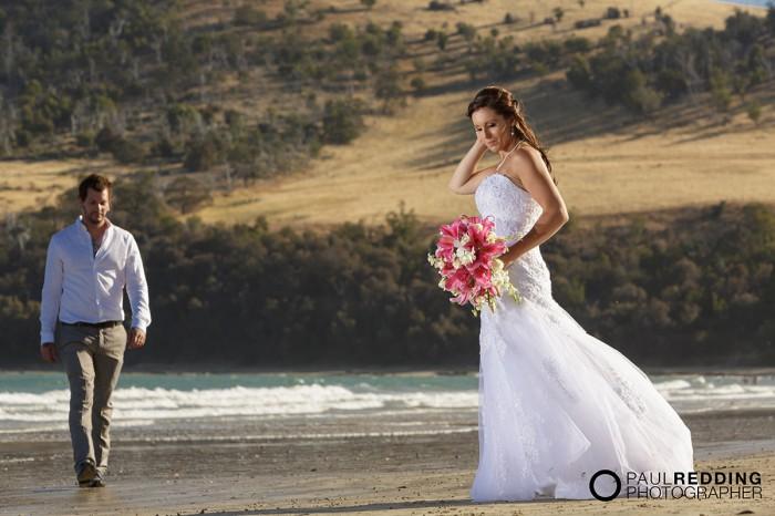 Beach wedding photography Hobart Tasmania by Paul Redding, beach wedding photographer Hobart - 1-2-2014 Seven Mile Beach