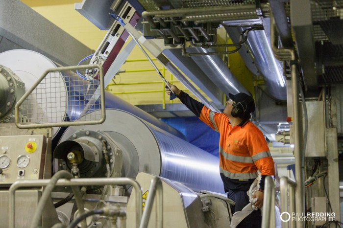 Paper Mill Maintenance  | Norske Skog Paper Mill Boyer PM2 Conversion - Paul Redding , Paper Mill Photographer Tasmania