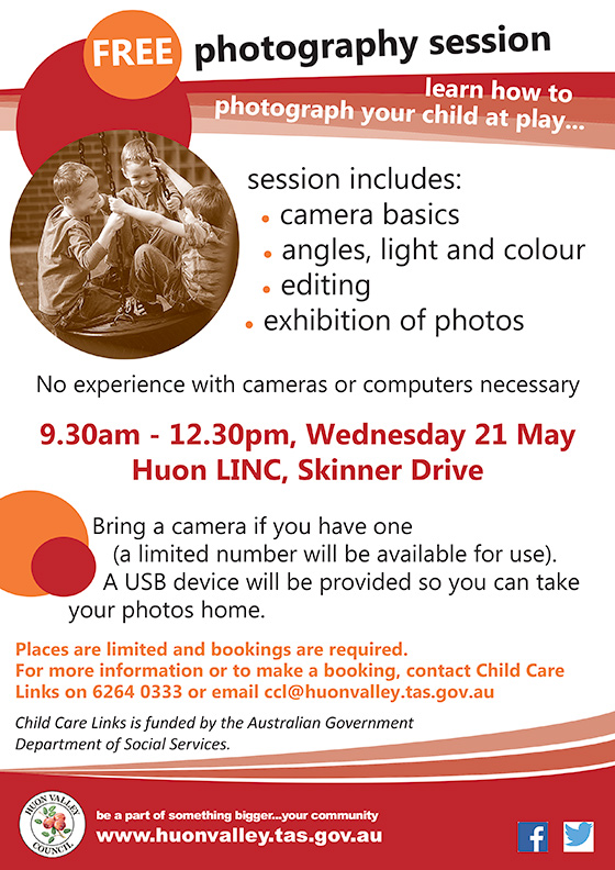 Photography coaching in Huonville 21-5-2014 | Your child at play