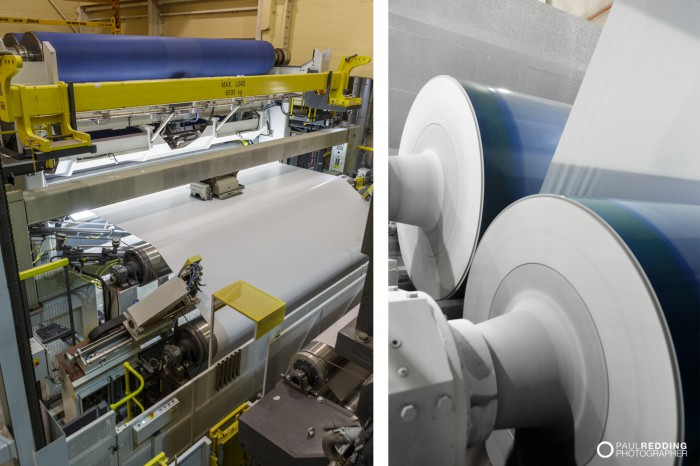 Coated paper product Optiload | Norske Skog Paper Mill Boyer PM2 Conversion - Paul Redding , Paper Mill Photographer Tasmania