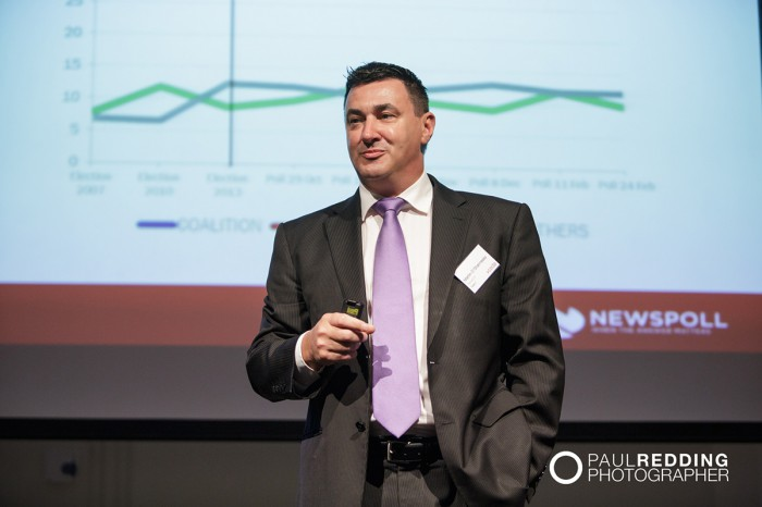 Martin O'Shannessy - CEDA- Economic and Political Overview 2014 by Paul Redding - Hobart Conference Photographer 10