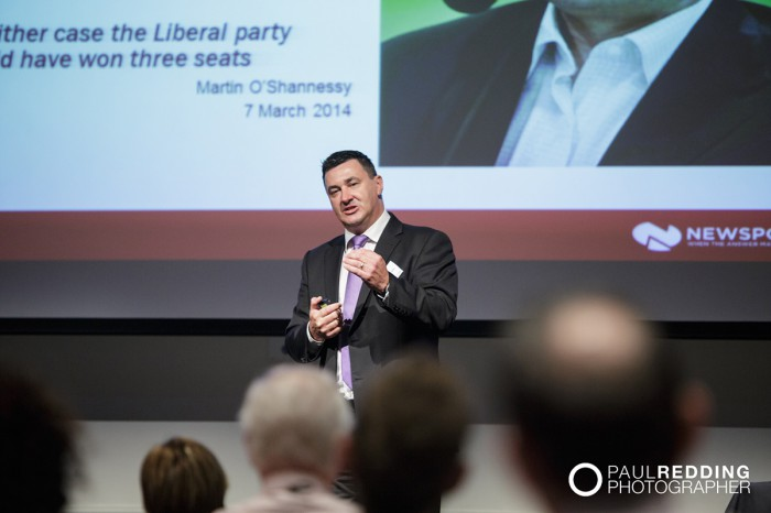 Martin O'Shannessy - CEDA- Economic and Political Overview 2014 by Paul Redding - Hobart Conference Photographer 7