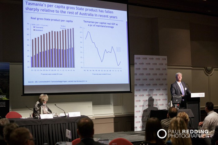 Saul Eslake- Chief Economist, Bank of America Merrill Lynch -CEDA- Economic and Political Overview 2014 by Paul Redding - Hobart Conference Photographer -3