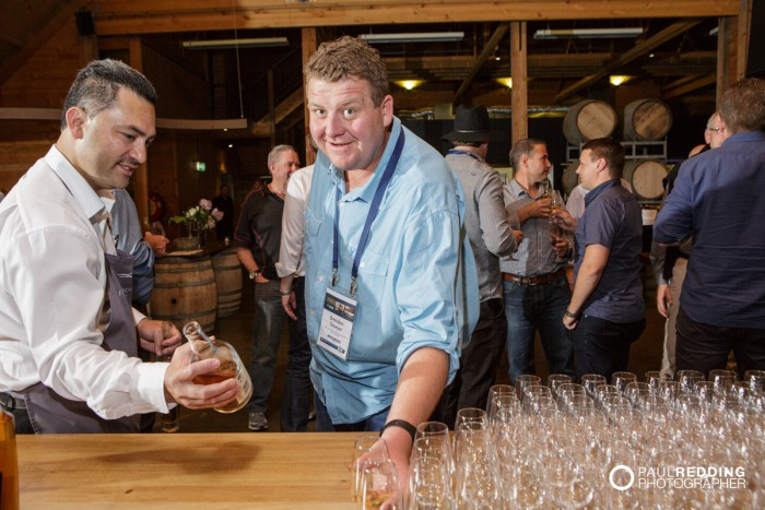 Insurance Advisernet Australia Conference 2015. Frogmore Creek Winery. Pre Conference Welcome Dinner Photography by Paul Redding, Hobart Conference Photographer. Lark Whiskey Tasting
