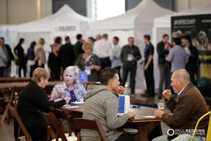 34- Candid - Insurance Advisernet Australia Conference 2015 - Trade Show at Princes Wharf No 1 Shed. Photography by Paul Redding, Hobart Trade Show Photographer.