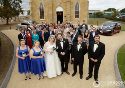 W835_327-- St Georges Anglican Church Sorell Tasmania by Paul Redding Photographer Hobart. Fun Wedding photography