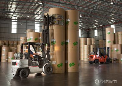 Rolls of paper at paper mill - Paul Redding Industrial photographer Hobart